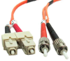 0.3m ST-SC Duplex Multimode 62.5/125 Fiber Cable (0.9ft) -- 60ST-SC003 - Image
