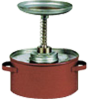 1 Quart Metal Safety Plunger Can -- CAN120