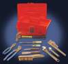 Tool Kit w/Tool Box,Nonspark,11 Pc -- 4CZ76