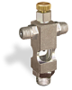 """(Formerly B1629-2X00), Cross Small Sight Feed Valve, 1/8"""" Male NPT Inlet, 1/8"""" Male NPT Outlet, Handwheel -- B1628-222B1HW -- View Larger Image"""