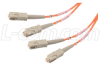 50/125, Multimode Fiber Optic Cable, Dual SC / Dual SC, 50.0m -- FODSC50-50