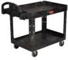 RUBBERMAID Heavy Duty 2-Shelf Utility Cart w/Lipped Shelf, -- Model# FG 4520-88 BLA