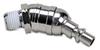 Swivel Air Fitting: steel, 1/4n ARO 210 plug & 1/4in male NPT -- HSP14-14M-T - Image