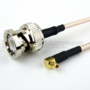 BNC Male to RA MMCX Plug Cable RG316 Coax in 120 Inch -- FMC0819316-120 -Image