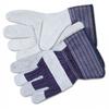 Split Leather Palm Gloves, Gray -- 12010S