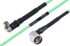 Temperature Conditioned SMA Male Right Angle to N Male Right Angle Low Loss Cable 100 cm Length Using PE-P160LL Coax -- PE3M0203-100CM -Image