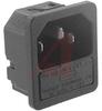 Fuseholder; 250 VAC; 5 x 20 mm; 1/1.5/2/2.5/3 mm; Panel Mount; -25 to degC -- 70080635 - Image