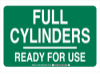 Gas Cylinder Status Sign -- 103855