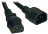 Standard Computer Power Extension Cord, 10A, 18AWG (IEC-320-C14 to IEC-320-C13) 8-ft. -- P004-008
