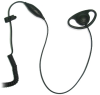 I-302 D Shape Earhook Mic. for ICOM Radios w/angle connector for IC-F3GT etc. -- I-302
