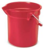 Rubbermaid Brute® Plastic Round Bucket - 14 Quart - Red -- RM-2614RED