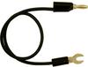 0.250″ Spade Lug to Stacking Banana Plug, 18 AWG Test Lead -- 9142 -Image
