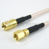 SMB Plug (Male) to SMC Plug (Male) Cable RG-316 Coax Up To 3 GHz, 1.35 VSWR in 12 Inch and RoHS -- FMC1618315LF-12 -Image