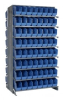 """Bins & Systems - Store-More 6"""" Shelf Bins (QSB Series) - Sloped Shelving Systems - Double Sided Pick Racks - QPRD-201 - Image"""