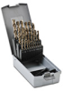 Jobber Drill Bit Set: HSS-Co5, 1.0 to 13.0mm diameter, 25-pc -- 215215RO