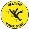 Watch Your Step Slip-Gard Floor Sign -- SGN851
