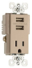 Combination Switch/Receptacle -- TR5261USB-NI -- View Larger Image