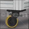 Castor D125 swivel with double-brake, heavy-duty -- 0.0.488.39