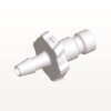 Bayonet Male Connector, Barbed, White -- BC330 -Image