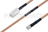 MIL-DTL-17 N Female to SMA Male Cable 30 Inch Length Using M17/128-RG400 Coax -- PE3M0073-30 -Image
