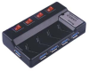 USB3.0 4 Port Hub w/Charger, Individual Port Switch -- 1504-SF-96