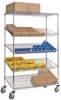 RELIUS SOLUTIONS Wire Shelf Truck with Slanted Shelves -- 5679300