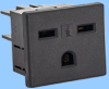 15A/250V North American Snap-in Receptacle -- 88243100 -Image