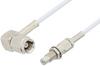 SMC Plug Right Angle to SMC Jack Bulkhead Cable 48 Inch Length Using RG196 Coax -- PE33692LF-48 -Image