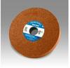 3M Scotch-Brite CP-WL Aluminum Oxide Medium Deburring Wheel - Fine Grade - Arbor Attachment - 8 in Diameter - 3 in Center Hole - Thickness 24 in - 15591 -- 048011-15591 - Image
