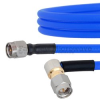 SMA Male to RA SMA Male Cable FM141FLEX Coax in 24 Inch and RoHS Compliant -- FMCA1036-24 -- View Larger Image