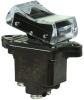 TP Series Rocker Switch, 2 pole, 2 position, Screw terminal, Above Panel Mounting -- 2TP4-2 - Image