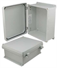 12x10x5 Inch UL® Listed Weatherproof Industrial NEMA 4X Enclosure Only with Non-Metallic Hinges -- NBN121005 -Image