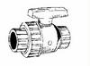 Single Union Ball Valve Pool & Spa:Fipt x Mipt -- PN4-015 Fipt x Mipt -- View Larger Image