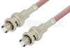 SHV Plug to SHV Plug Cable 12 Inch Length Using RG142 Coax, RoHS -- PE3843LF-12 -- View Larger Image