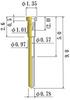 Small Size Socket Pin -- NC090-RL-GG-1 -Image