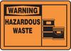 Warning Hazardous Waste Hazard Warning Label -- SGN432 -Image