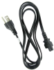 6ft 18 AWG 3-Slot Laptop Power Cord (IEC320 C5 to NEMA 5-15P) -- P7N3-06