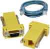 SeaI/O DB9 Female to RJ45 Adapter (RS-485 Pinout) and CAT5 7' Patch Cable (Blue) -- KT121