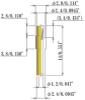 Small Size Socket Pin, High Temperature -- NB15-F29-CBL-L140 -Image