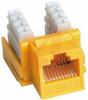 Jack, Keystone; Yellow; For CAT 6 cable -- 70121205