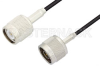N Male to TNC Male Cable 48 Inch Length Using RG174 Coax -- PE34272-48 -Image