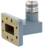 WR-90 to Type N Female Waveguide to Coax Adapter CMR-90 with 8.2 GHz to 12.4 GHz X Band in Aluminum, Paint -- FMWCA1033