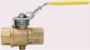 SERIES 511L BRASS MANUAL BALL VALVE, 2 WAY, NORMALLY CLOSED WITH SAFETY EXHAUST -- 511L-200-1/4