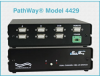2-Channel DB9 A/B Data Switch with Serial Remote Control -- Model 4429 -Image