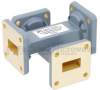 30 dB WR-62 Waveguide Crossguide Coupler with UG-419/U Square Cover Flange from 12.4 GHz to 18 GHz in Copper Alloy -- FMWCP1048 -Image
