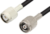 TNC Male to Reverse Polarity TNC Male Cable 60 Inch Length Using PE-C195 Coax -- PE37137-60 -Image