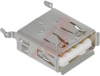 USB Socket; Phosphor Bronze; UL 94V-0; Phosphor Bronze; 30 V (RMS) -- 70183117