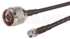L-COM - CA-RSPNMA002 - CABLE ASSEMBLY, RP-SMA PLUG / N MALE, 195 SERIES, 2FT -- 571804
