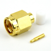SMA Male (Plug) Connector For RG402 Cable, Solder, Gold Plated Brass Body, Length 0.441 In -- SC3013 -Image