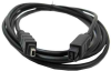 1ft 9-pin to 4-pin IEEE-1394 FireWire(r) 800/400 Cable -- IE9494-01 -- View Larger Image
